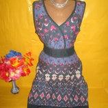 Очень красивое женское платье грудь 45 см Pepperberry рр 14 100% катон