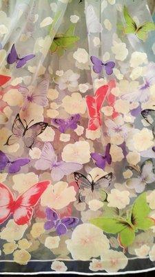 Тюль с бабочками , тюль з метеликами, фіранки.