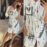 Стильная рубашка - платье