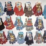 Стильные перчатки для мальчика Дисней Тачки Гонщик Маршал Миньены Щенячий патруль Блейд Сонник Поли