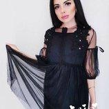 Красивое платье 42 - 46 черное