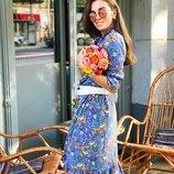 Красивое нежное платье «Одри» в цветочек