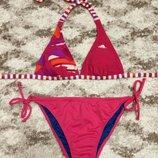 Фирменный яркий купальник Adidas,твердые чашки,розовый купальник подарок
