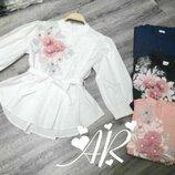 Красивая блуза 42 - 44 четыре расцветки