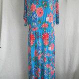 Длинное платье с цветочным принтом Anthropology 16p