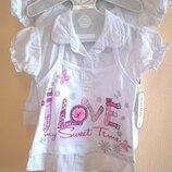 Футболки блузки для девочек Новые 5-10 лет