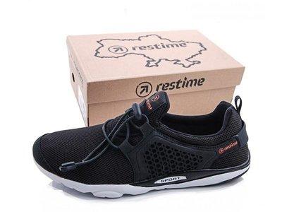 Мужские легкие кроссовки летние мокасины черные Restime Р. 44