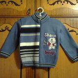 Новые теплые вязаные свитера на 2-3 года. рост 92-98 см. zero baby.