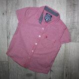 Стильная шведка рубашка клетка красно-белая ребел Rebel 2-3 года, рост 92-98 см.