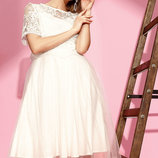 Актуальное платье с топом. 30375G