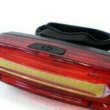 Фонарь велосипедный USB красный C09-096-RW