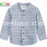Детская летняя рубашка Lupilu на мальчика 0-1, 1-2, 4-6, мес