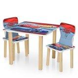 Столик деревянный с двумя стульчиками 506-52 Тачки