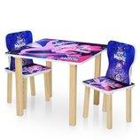 Столик деревянный с двумя стульчиками 506-55 My Little Pony