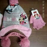 Зимняя шапочка , рукавички Минни Дисней
