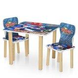 Столик деревянный с двумя стульчиками 506-56 Beyblade