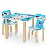 Столик деревянный с двумя стульчиками 506-58-2 Кошка