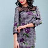 Ровное красивое платье 1115