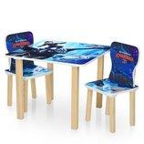 Столик деревянный с двумя стульчиками 506-67 Драконы