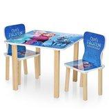 Столик деревянный с двумя стульчиками 506-69 Frozen