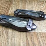 Туфли балетки Zara 22.5см натуральная кожа