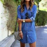 Стильное платье под джинс 42 - 44