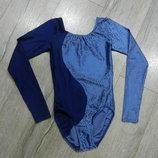 S/10/38 Англия яркий синий гимнастический купальник для танцев,для спорта