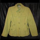 Фисташковое пальто жакет размер S женское Maddison