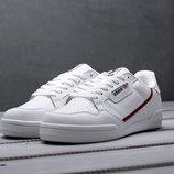 Топ качество. Бесплатная доставка. Кроссовки Adidas Continental 80 белые KS 945