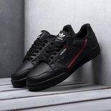 Топ качество. Бесплатная доставка. Кроссовки Adidas Continental 80 черные KS 946
