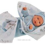 Кукла младенец озвученный, мягконабивной, Antonio Juan Petit Coletas 1116, 27см, мальчик