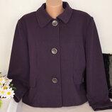 Брендовое фиолетовое демисезонное пальто полупальто dunnes вискоза
