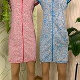 Женский трикотажный халат размеры 44-58