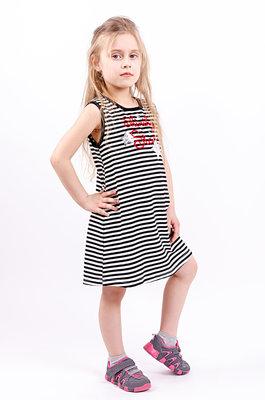 Летнее платье для девочек рост 104-140