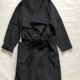 Мега стильное шерстяное пальто под пояс s- m размер