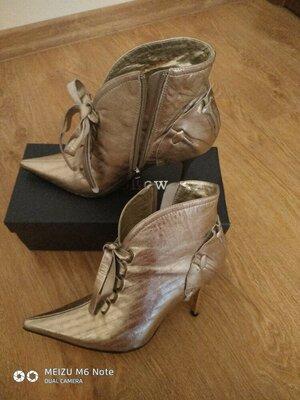 55d8aa9d3 Кожаные золотистые ботильоны, ботинки, полусапожки: 550 грн ...