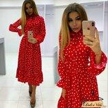 Нежное, стильное платье 42 - 46 четыре расцветки