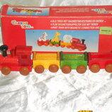шикарная игрушка из дерева Поезд на магнитах Charl's Toys Нидерланды оригинал