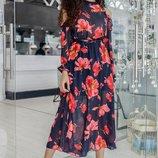 Красивое платье «Валия» 42 - 44 две расцветки