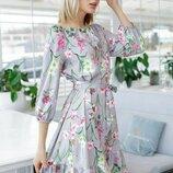 Весеннее платье «Патриция» 42 - 46 три расцветки