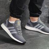 Кроссовки мужские сетка Adidas Iniki gray