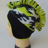 теплая шапка-ирокез из двойного флиса, chapter young, takko, 8-15 лет.