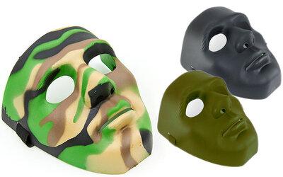 Маска защитная для пейнтбола и страйкбола 6835 маска для военных игр регулируемый размер, 3 цвета