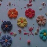 Сахарные цветы васильки для украшения кондитерских изделий, размер на фото. Цвета разные Цена 2 шт.-