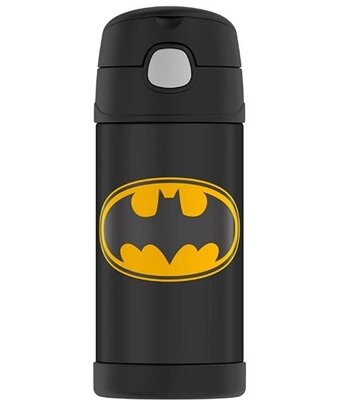 Термос Бэтмен термобутылка с трубочкой 355 мл Thermos Funtainer Batman