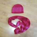 Набор шапка и шарф на 5-6-7 лет демисезонный