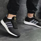 Кроссовки мужские сетка Adidas Iniki black/white