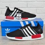 Кроссовки мужские Adidas NMD Runner Core Black текстильные черные