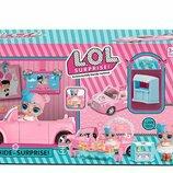 Набор с куклой, автомобиль трансформируется