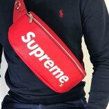 Мужская кожаная сумка на пояс Supreme Louis Vuitton